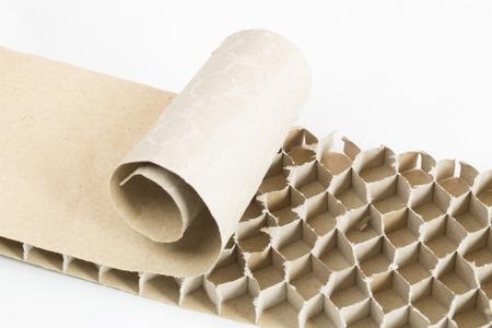 paperboard: recycled paperboard honeycomb bee Stock Photo