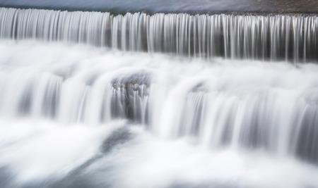 waterfall in river passing by burgos,spain