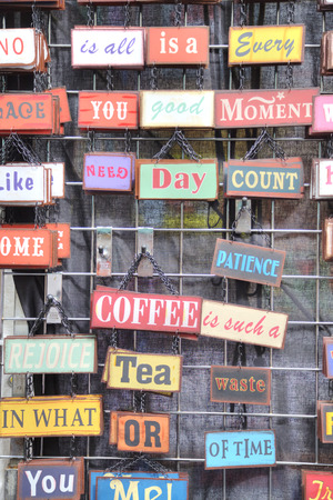 Exhibitor Antique Vintage metal signs sign - Fresh Brewed Coffee photo
