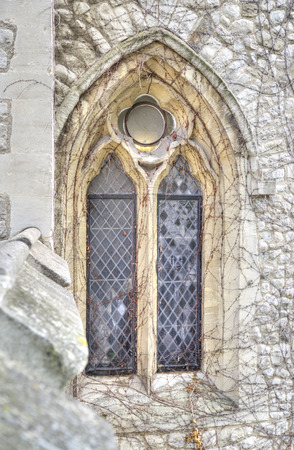 Gothic window of Tower of London photo