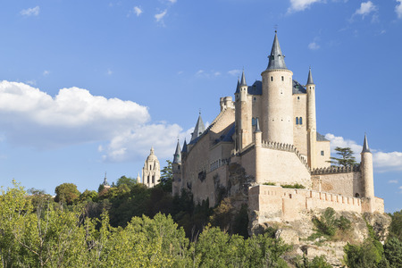 View of Alcazar Castle in Segovia, Spain
