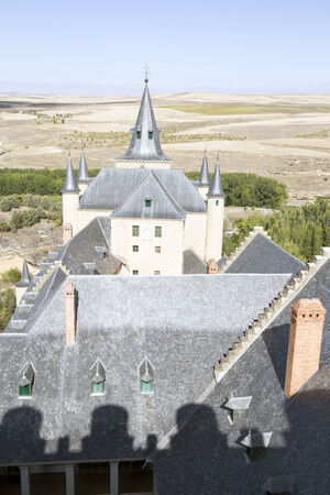 View of Alcazar Castle in Segovia, Spain