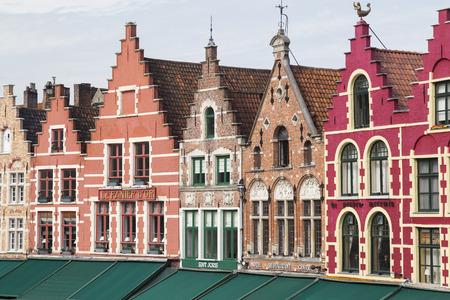 BRUGES, BELGIUM - SEPTEMBER 17 2014: the market square in Bruges, Belgium on september 17 , 2014.  Editorial