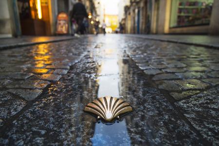 Symbol of the camino de santiago as it passes through burgos, Spain