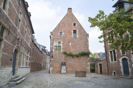 leuven: Street through the Grand Beguinage of Leuven ,Belgium Editorial
