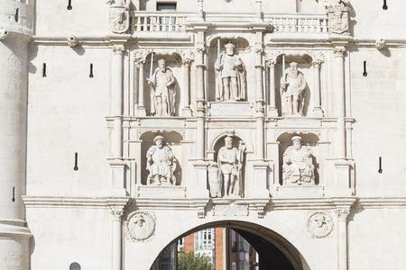 details of Arco de Santa Maria, Burgos, Castilla y Leon, Spain photo