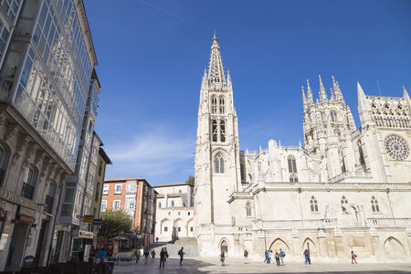 BURGOS, SPAIN - October 24 de: Catholic Cathedral on October 24, 2014 in Burgos, Spain. It is the only Spanish cathedral that is independently in the list of UNESCO World Heritage Site.