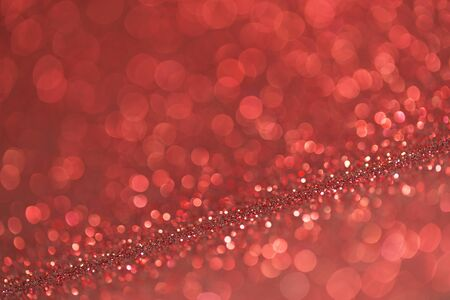 atmospheric: abstract red twinkled christmas background Stock Photo