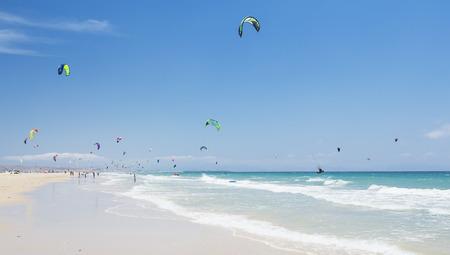 kite surfing: kitesurfing in Tarifa, Spain