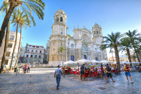 CADIZ, SPAIN.- June 21, 2015: Cadiz one of the oldest cities in Western Europe and With archaeological remains dating back 3,100 years