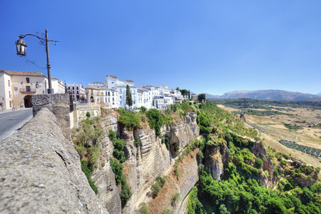 ronda: Ronda, Spain old town cityscape on the Tajo Gorge Stock Photo