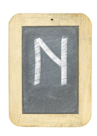 blackboard with frame with letter writing n