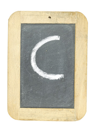 blackboard with frame with letter writing c