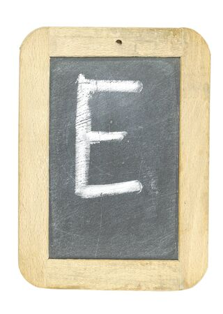 blackboard with frame with letter writing e