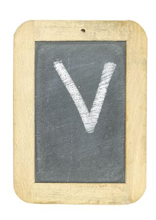 blackboard with frame with letter writing v Stock Photo