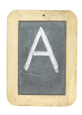 blackboard with frame with letter writing a