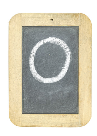 blackboard with frame with letter writing o Stock Photo