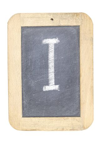 blackboard with frame with letter writing i Stock Photo