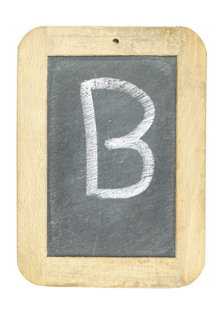 blackboard with frame with letter writing b
