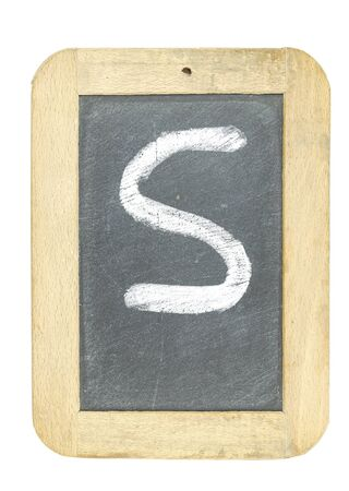 blackboard with frame with letter writing s Stock Photo