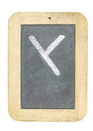 blackboard with frame with letter writing y