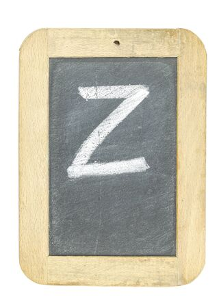 blackboard with frame with letter writing z Stock Photo