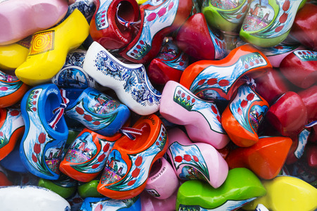 dutch typical: Famous traditional Dutch wooden clogs