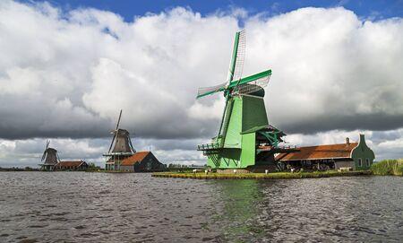 Amsterdam ZAaNSE SCHANS windmill Stock Photo