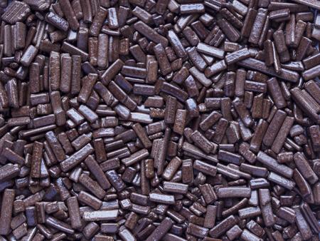 fibers of chocolate to decorate