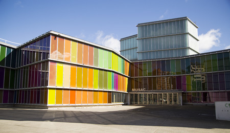 Leon, Spain - February 2, 2018: View of the Museum of Modern Art