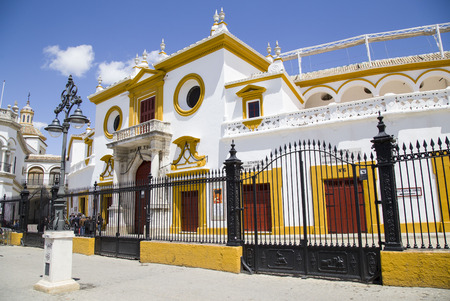 Detail of Plaza de Toros area in Seville - Andalusia Region - Spain -