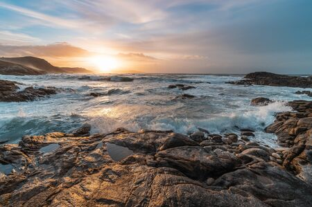 Sunset at sea,Laxe, Galicia, Spain