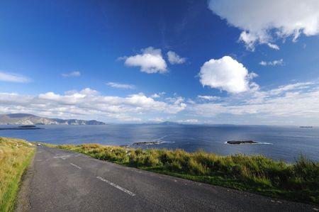 achill: road by ocean , Achill island Ireland