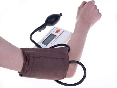 The control of work of heart - measurement of a blood pressure Stock Photo - 8073338