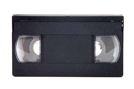cassette on white background photo