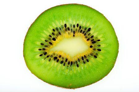 nourish: Object on white - raw fruit kiwi  Stock Photo