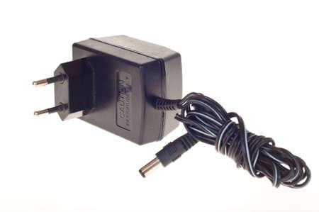 zelektryzować: Zasilacz sieciowy wtyczka transformator na biaÅ'ym