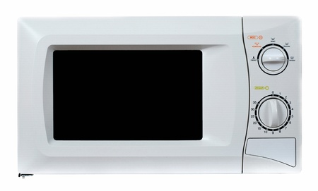 Microwave oven isolated on a white backgroun photo