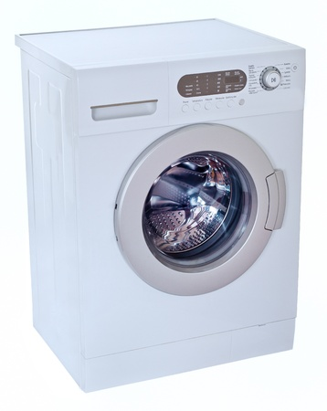 Washing machine isolated on white  Stock Photo - 14465367