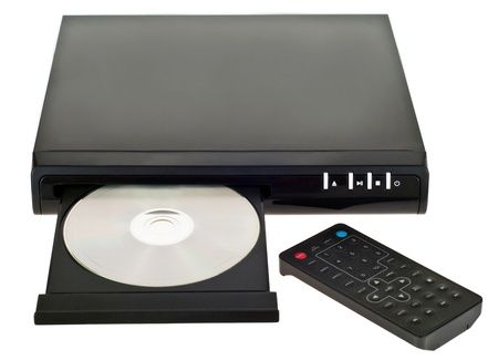 Photo of the dvd player over the white background Stock Photo