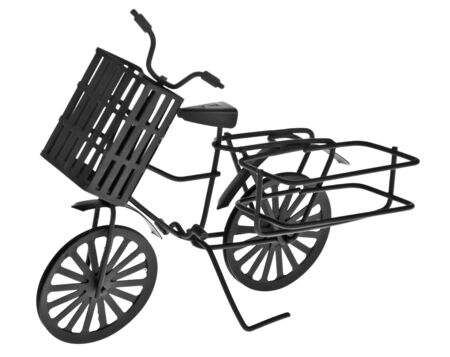 imagery: Old bicycle isolated on a white background