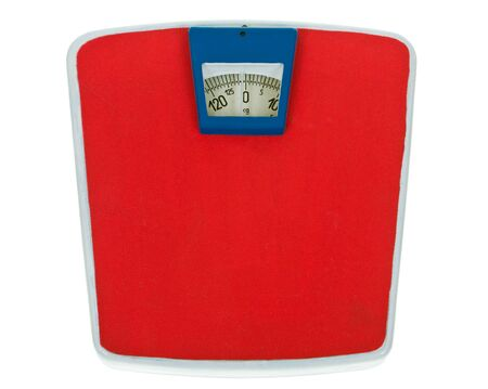 Retro weight scale isolated on a white background  Stock Photo - 15423400