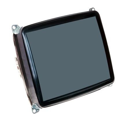 cathode: Cathode Ray Tube on White Background Stock Photo