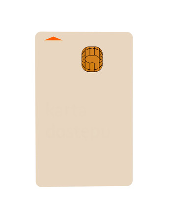 over paying: Credit card over a white background