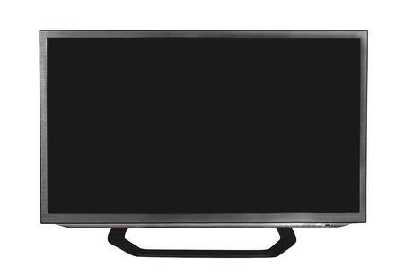 Flat tv with blank screen.