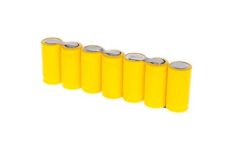 Battery on a white background. Imagens