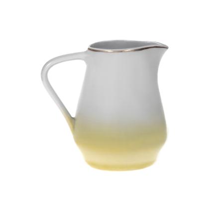 Milk jar isolated on white background Stock Photo