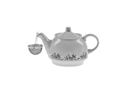 Teapot drop out on white background  Фото со стока