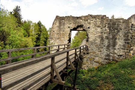 Exploring the ruins of the past time in Schellenberg in Liechtenstein 24.4.2020
