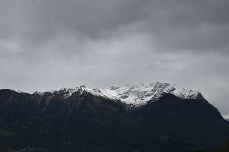Bad weather and a lot of rain in the mountains in Switzerland 2.5.2020
